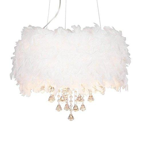 lampes de suspension contemporaine plume Lush blanche ...