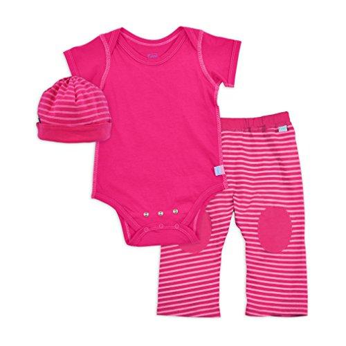 Organic Baby Yoga Pants (i play. Baby Organic Bodysuit Cap and Pant Set, Fuchsia, 6 Months)