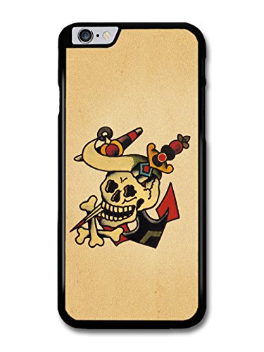 Old Tattoo Vintage Anchor with Skull Bones and Dagger Illustration coque pour iPhone 6 Plus 6S Plus