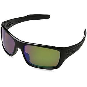 Oakley Men's Turbine 0OO9263 Polarized Iridium Rectangular Sunglasses, POLISHED BLACK, 63.04 mm