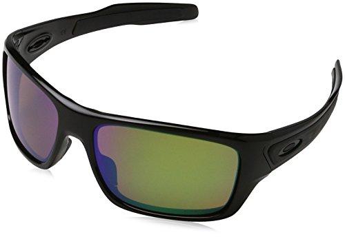 Oakley Men's Turbine Polarized Iridium Rectangular Sunglasses, POLISHED BLACK, 63.04 ()