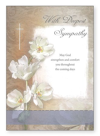 with deepest sympathy card bereavement condolence religious
