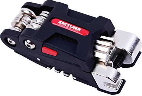 SIGTUNA Bike Multitool - 19-Function Bicycle Multitool with Hex Keys, Spoke and Wring Wrenches, Screwdrivers, Tire levers and Chain Rivet Extractor