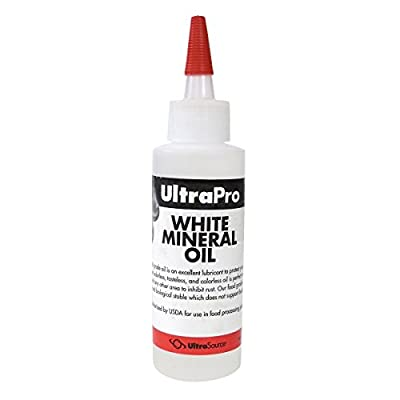 4 oz - Food Grade Mineral Oil for Stainless Steel, Cutting Boards and Butcher Blocks, NSF from UltraSource