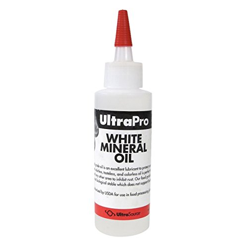4 oz - Food Grade Mineral Oil for Stainless Steel, Cutting Boards and Butcher Blocks, NSF ()