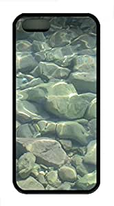 iPhone 5s Case, iPhone 5s Cases - material stones water sea 2 Custom Design iPhone 5s Case Cover - PolycarbonatešCBlack
