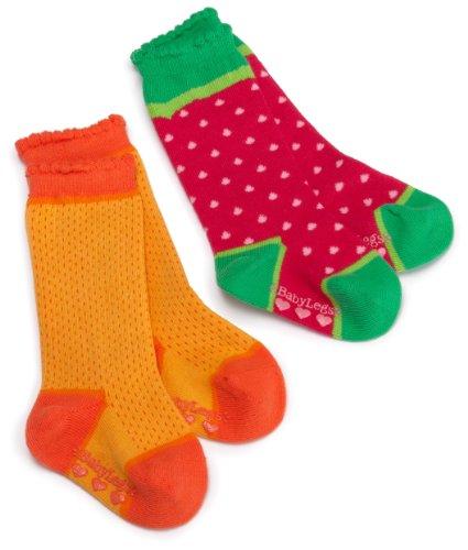 Babylegs Girls' Fruit Salad Knee High Socks, Assorted, 12 24 Months