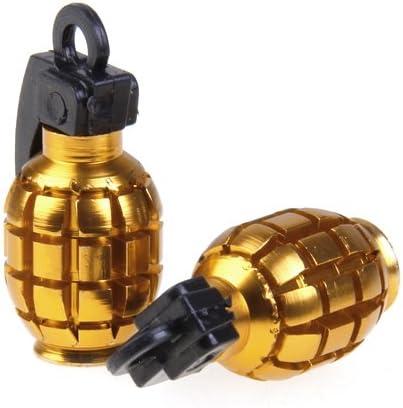 Gold 2pcs Universal Felgenventile Motorrad Ventilkappen Kappen Reifen Ventil Staubkappen