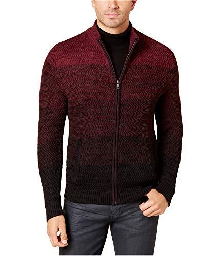 New Mens Alfani Colorblock Full Zip Long Sleeve Cardigan Sweater Size XL