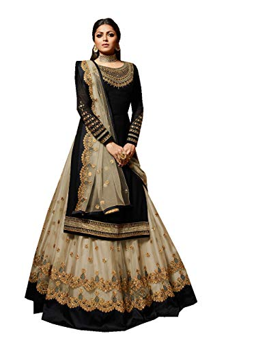 Delisa New Indian/Pakistani Eid Special Party/Ethnic wear Georgette Straight Ghagra Style Salwar for Womens LTT