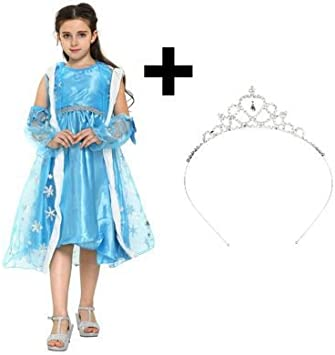 Katara 1842 Vestido de Princesa Elsa de Frozen Disfraz con Tiara 8 ...