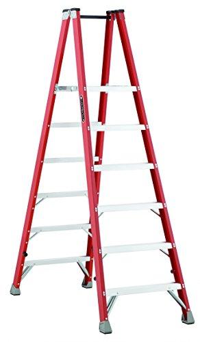 Louisville FMP1506 Type IA Fiberglass Platform Ladder wit...