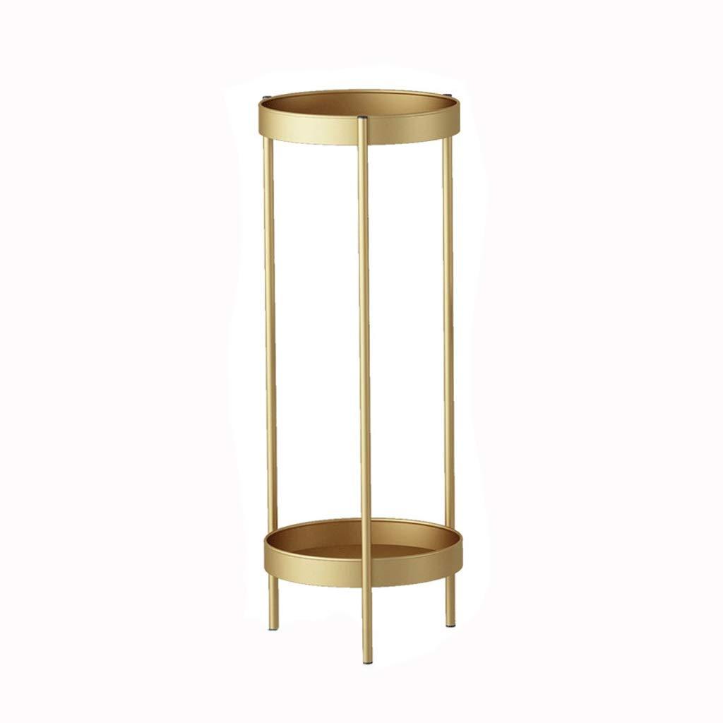 Mensola per Fiori in Lega di Ferro oro 60   90cm Alto Fiore Stand Creativo Fiore cilindrico Basamento del Pavimento al Coperto Balcone mensola del Fiore (colore   oro, Dimensioni   M)