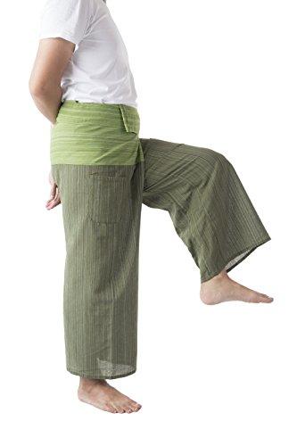 d4677ba3dc8 Memitr Thai Fisherman Pants Men s Yoga Trousers Gray Charcoal 2 Tone Pant
