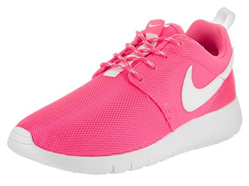 Nike Youth Roshe One Girls Running Shoes Pink Blast/White 599729-611 Size
