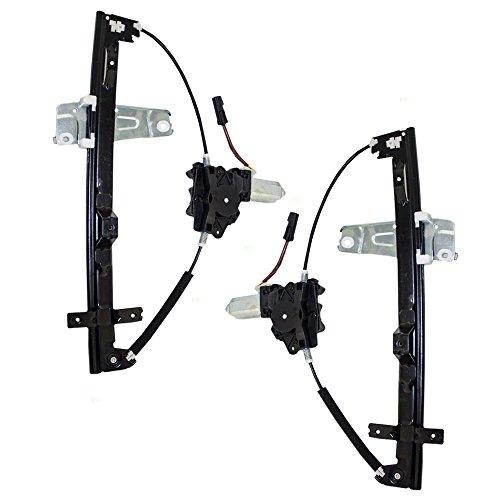 Driver and Passenger Front Power Window Lift Regulators & Motors Assemblies Replacement for Jeep 55076467AF 55076466AF AutoAndArt 1999 Jeep Grand Cherokee Window Regulator