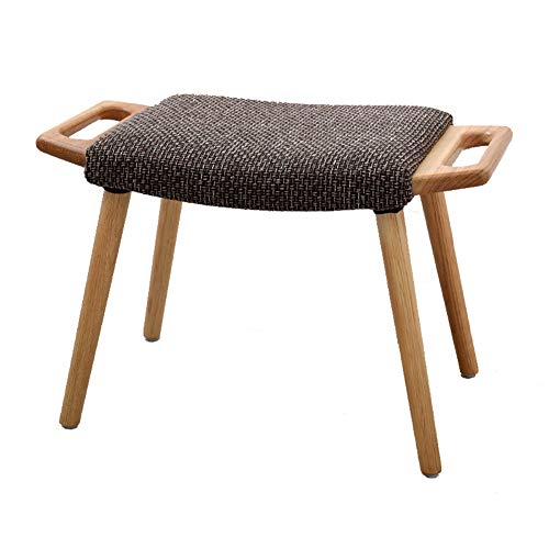 (Wood Shoes Bench Oak Shoes Rack Shoes Stool Sturdy Dressing Stool with Handrail Magazine Stool (Color : Wood Color))