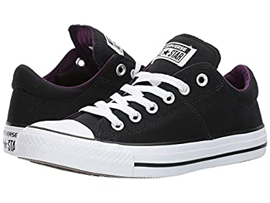 Amazon.com | CONVERSE WOMENS ALL STAR MADISON WINTER BLACK PURPLE SIZE 5 |  Fashion Sneakers