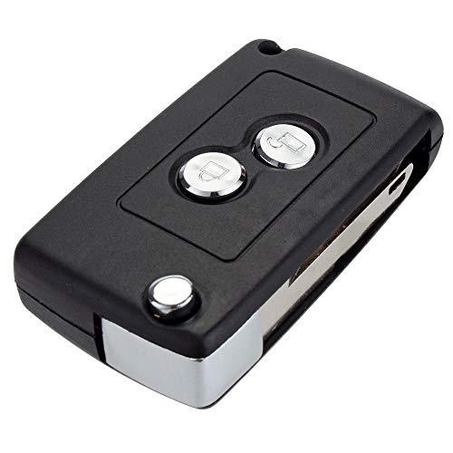 Stillar - 1pc 2 Button New Folding Remote Key Case Refit For Citroen C2 C3...