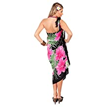 1 World Sarongs Womens Hawaiian Floral Swimsuit Sarong in your choice of color
