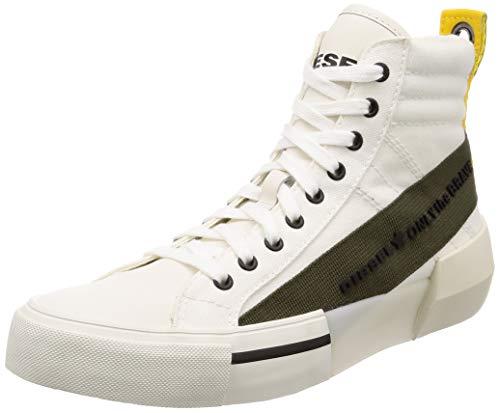 Diesel Men's S-DESE MC-Sneaker mid, Star White/Olive Night, 11 M US
