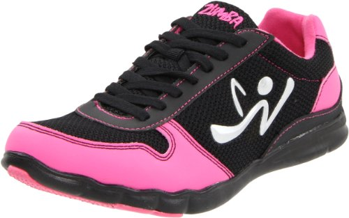 Zumba Women's Z-Kickz Dance Shoe,Black/Pink,8 W US