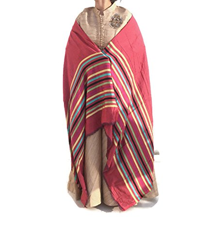 Red Pashmina scarves Colorful bridal wrap wedding shawl cashmere scarf bridesmaid gift -Size 76''x 27'' IDSC10 by iDukaancrafts (Image #2)