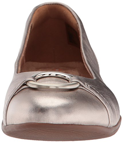 Clarks Vine Ballet Flats Neenah Leather Metallic Women's Gold f1qfr