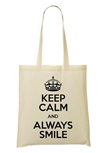 Keep Calm And Always Smile Handbag Shopping Bag