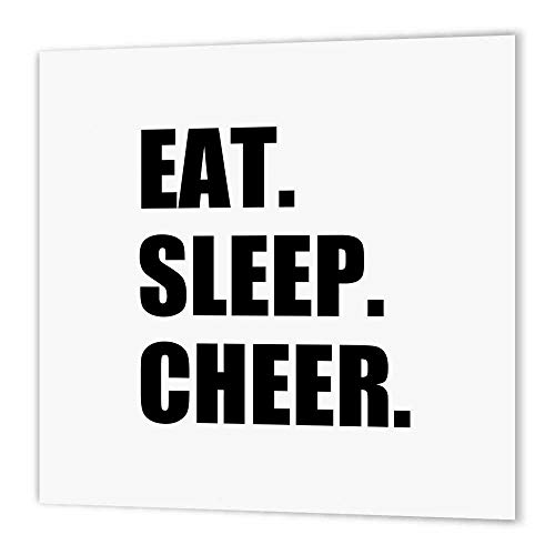 3dRose ht_180387_3 Eat Sleep Cheer Passionate About Cheerleading Fun Cheerleader Team Iron on Heat Transfer, 10 by 10-Inch, for White Material
