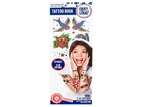 Temporary Tattoo Book - Pack of 108
