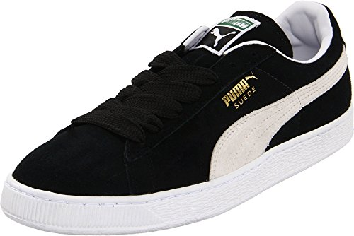 PUMA Suede Classic Sneaker,Black/White,10 M US Men's (Suede Shoes Men Puma)