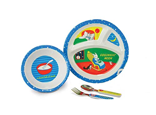 Goodnight Moon 4 Piece Kids Melamine BPA Free Dinnerware Set