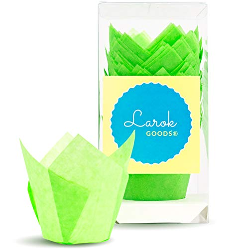 Tulip Baking Cups | Cupcake or Muffin Liners (Key Lime Green) 100 Count