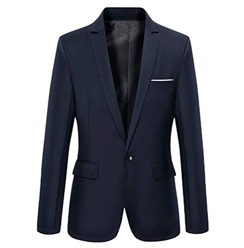 Smoking Slim Bottone Blazer 2 Autunno Con Elegante Huixin Casual Navy Fit Da Uomo Top Skinny Un vA7FC