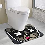 Crew Five Cali Bear On Behance Anti-bacterial U-shaped Toilet Floor Rug Non-Slip,Water Absorbent