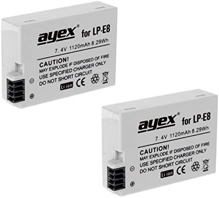 2er Set Ayex Lp E8 Li Ion Akku Für Canon Eos 550d Elektronik