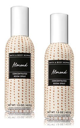 Bath and Body Works 2 Pack Almond Concentrated Room Spray. 1.5 Oz.