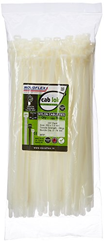 Novoflex CPU 250 ES Reusable Cable Ties – CPU Series – 250mm, Natural White