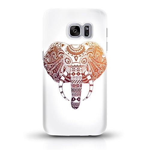 """JUNIWORDS Handyhüllen Slim Case für Samsung Galaxy S7 - Motiv """"Bunter Elefant weiß"""" Schutzhülle für Ihr Smartphone"""