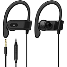 Avantree E171 Sports Headphones Wired with Microphone, Over Ear Earbuds with Ear Hook, in Ear Running Earphones for Workout Gym Compatible with iPhone, Samsung
