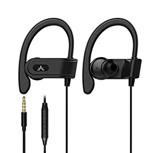 Best Epic Trends 41hbIEqzNtL._SS300_ Avantree E171 Sports Earbuds Wired with Microphone, Sweatproof Wrap Around Earphones with Over Ear Hook, in Ear Running…