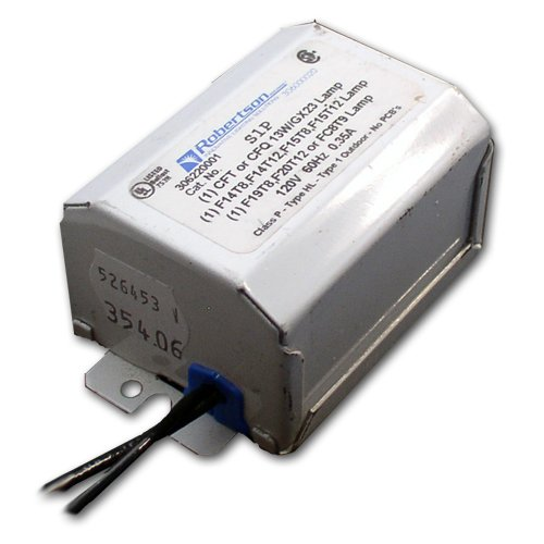 Lamp Magnetic Ballast - Robertson Worldwide S1P-V1 magnetic ballast for 13w to 20w fluorescent lamps