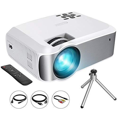 VicTsing Video Projector (2019 Upgraded) 1080P Supported with 3600 Lumens & ±45° Vertical Keystone Correction; LED Portable Projector w/2000:1 Contrast Ratio