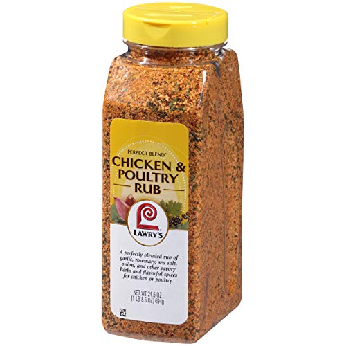 Lawry's Perfect Blend Chicken & Poultry Rub, 24.5 oz (Best Roast Chicken Seasoning)
