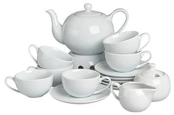 Teekanne Porzellan Mit Stövchen teeservice porzellan weiß teekanne mit stövchen teetassen mit