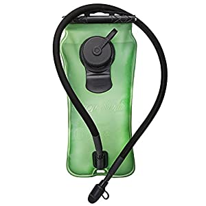 Baen Sendi Hydration Bladder 3 Liter//100 oz - Water Bladder for Hydration pack (Green, 3 L/100 oz)