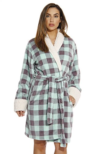 Just Love Kimono Robe/Bath Robes for Women,Mint / Charcoal,Medium