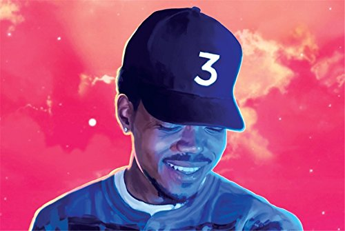 Price comparison product image Botrong Chance The Rapper Poster 24in x 36in Coloring Book Rapper Singer