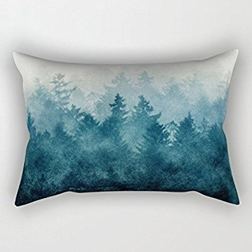 mountians forest throw pillow covers 20 x 30 inches 50 by 75 cm for weddingplay boys with two sides